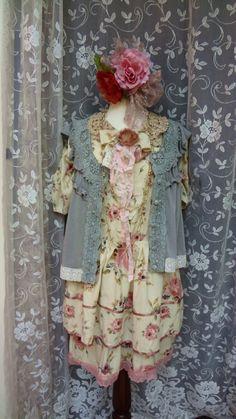 Mori Girl Boho Chic Clothing Cowgirl Shabby by BerthaLouiseDesigns, $89.95