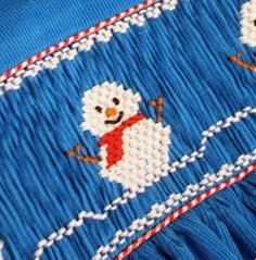 Free Snowman Smocking Design - Creations By Michie` Blog