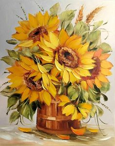 Watercolor Flowers, Watercolor Paintings, Sunflower Art, Sunflower Paintings, Art Africain, Arte Floral, Painting Inspiration, Art Pictures, Painting & Drawing