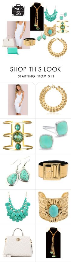 """""""Quick Change"""" by lwilson126 on Polyvore featuring Trina Turk, Silver Treasures, Emi Jewellery, Yves Saint Laurent, Gucci and Kate Spade"""