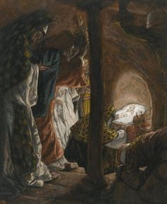 James Tissot (15 Οκτωβρίου 1836 - 08 de agosto 1902) La Adoración. Pintor francés, discípulo de Ingres. Participó en la guerra franco-prusiana, pero se mudó a Londres en la reputación que era Comuneros.