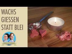 Bleigiessen mit Wachs   Kerzenreste aufbrauchen   Silvester Brauch ohne Blei - YouTube