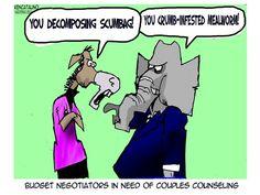 Needing professional help. Ken Catalino on GoComics.com #humor #comics #politics #congress #marriage