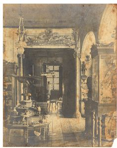 Interior of a Philippine Home, early 20th century.