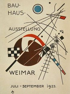Promotional poster for a Bauhaus design exhibition in Weimar - Germany -  1923…