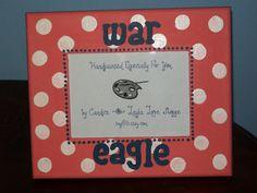 """""""war eagle"""" frame"""
