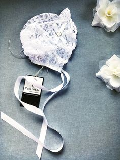 Venus white lace christening bonnet white lacy bonnet | Etsy White Satin, White Lace, Hospital Bag Essentials, Baby Girl Christening, Baptism Dress, Baby Bonnets, Satin Bows, Happy Shopping, Venus