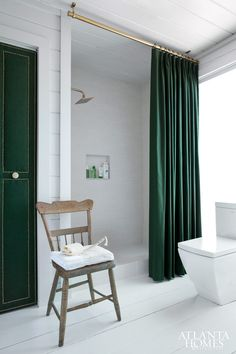 The same basic theory works with your shower curtain, too: Spray-paint a shower rod gold and suspend it from the ceiling. 42 Cheap And Easy Home Upgrades That Will Make Your Home Look More Expensive Extra Long Shower Curtain, Long Shower Curtains, Shower Curtain Rods, Ceiling Mount Curtain Rods, Luxury Shower Curtain, Custom Shower Curtains, Extra Long Curtains, Black Curtain Rods, Shower Rods