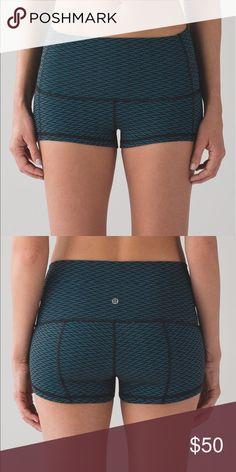 """NWT Lululemon Wunder Shorts 2"""" Indian Ocean Size 8 NWT Lululemon Wunder Shorts 2"""" Indian Ocean Size 8 bought wrong size lululemon athletica Shorts"""