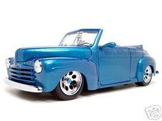 1948 Ford Diecast Model Blue Shyne Rodz 1/18 Die Cast Car By Yat Ming