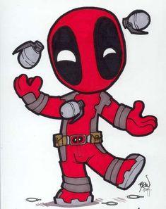 Chibi-Deadpool 3. by hedbonstudios.deviantart.com on @deviantART