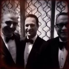 Chris Noth, Josh Charles and Tom Hanks at the Golden Globes