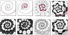 Bildergebnis für worm holes zentangle