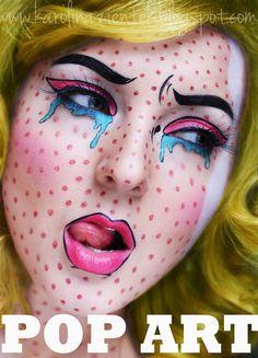 pop art really cool makeup
