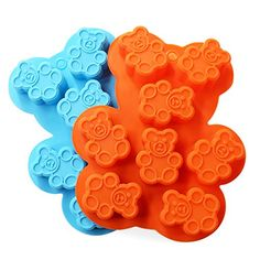 Candy Making Molds 2PCS YYP 8 Cavity Bear Shape Mold Silicone Candy Molds for Home Baking  Reusable Silicone DIY Baking Molds for Candy Chocolate or More Set of 2 * Check out the image by visiting the link.