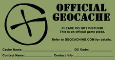 FREE Printable Log Sheets, Stash Notes and More! | Ground Zero