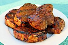 These Grilled Pork Chops with Molasses Balsamic Glaze are just amazing! Juicy, tender, full of flavor and just plain delicious!
