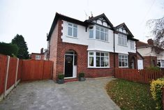 Classic features updated with modern twist. Pointing in good condition and block paving driveway fits well. Nice all round house. 1930s House Exterior Uk, 1930s House Extension, Extension Plans, 1930s Semi Detached House, House Front Door, Front Doors, Front Gardens, Edwardian House, Facade House