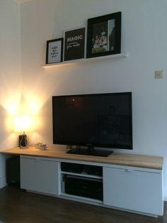 TV meubel gepimpt #ikeahack #Byås