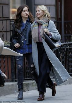 Sidewalk PDA: The newly single actress and mother-of-two is busy working on the new Netfli...
