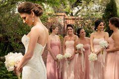 Rosa Thema Hochzeit, Rosa Brautjungfernkleider