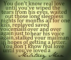 Couldnt have said it any better! Military love <3