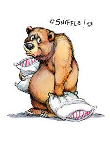 Cartoon Drawing Tips Bear Sniffles Folded Card - Sniffle! Cartoon Cartoon, Cartoon Characters, Crying Cartoon, Cute Animal Drawings, Cute Drawings, Drawing Cartoon Animals, Funny Animals, Cute Animals, Bear Drawing