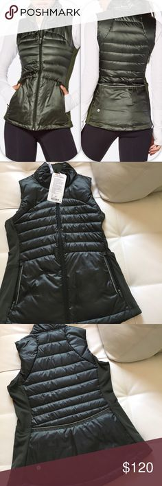 NWT GATOR GREEN LULULEMON DOWN FOR A RUN VEST - 8 Brand: Lululemon Athletica down for a run vest           Condition: New with tag || Size 8 || gator green    📌NO  TRADES  🛑NO LOWBALL OFFERS  ⛔️NO RUDE COMMENTS  🚷NO MODELING  ☀️Please don't discuss prices in the comment box. Make a reasonable offer and I'll either counter, accept or decline.   I will try to respond to all inquiries in a timely manner. Please check out the rest of my closet, I have various brands. Some new with tag, others…