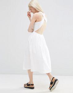 ASOS+Midi+Skater+Dress+With+Cross+Back