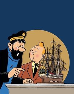 Tintin and Captain Haddock Captain Haddock, Herge Tintin, Banda Aceh, Pen Name, French Phrases, Ligne Claire, Hilario, My Childhood Memories, Book Series