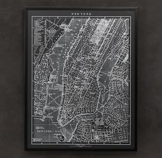 A little something for the home - a 1900s Lithograph Map of New York from Restoration Hardware. #SouthgateFaveThings