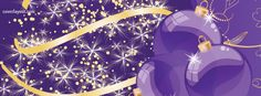 Christmas Layouts for Facebook | Christmas Ornaments Happy Holiday Facebook Cover, Purple Christmas ...