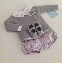 Polainas Bebé Boutique Infantil, Gray and Pink for baby girl