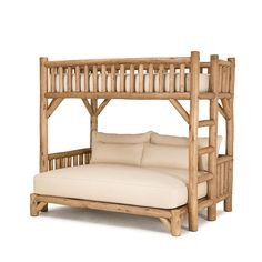 Rustic Bunk Bed #4255 in Pecan finish by La Lune Collection