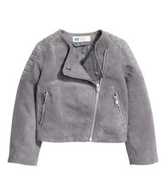 Imitation Suede Biker Jacket | H&M Kids