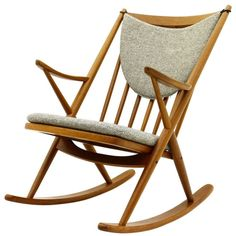 Frank Reenskaug Rocking Chair, Teak, Denmark | From a unique collection of antique and modern rocking chairs at https://www.1stdibs.com/furniture/seating/rocking-chairs/