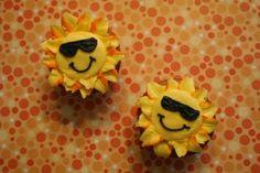 Smiley sun faces.