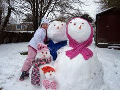 A family of snow people by Lucy L Richards.