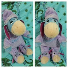 Since its a gloomy day..eeyore wanted to stay in bed wearing his onesies