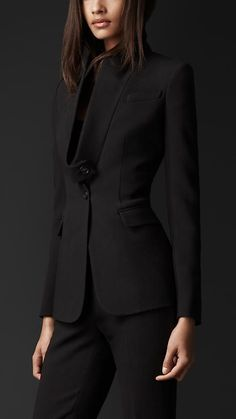 Burberry Prorsum Disconnected Lapel Tailored Jacket ...Would also be nice in electric blue or magenta: