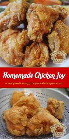 How to Cook Jollibee Chicken Joy - Meat Recipes Turkey Recipes, Meat Recipes, Asian Recipes, Cooking Recipes, Brownie Recipes, Easy Filipino Recipes, Drink Recipes, Vegetarian Recipes, Chicken Recipes Philippines