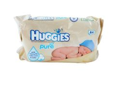 SALE Huggies Baby Pure Wipes Refill 64 Count (Pack of 4) 256 Wipes Total