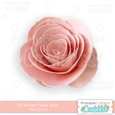 3D Rolled Paper Rose SVG Cutting File - Paper Flower SVG File, SVG, Cricut Explore, Cricut, Silhouette, Silhouette Cameo, Silhouette Portrait, SVG cuts, Eclips, Cutting Files, Make the Cut, Sure Cuts a Lot, SCaL, and other electronic craft cutting machines for scrapbooking, card making, paper crafting, shadow boxes, paper flower bouquets, and more!