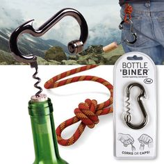 Just in case you need to open your Pinot while you climb. Ha!