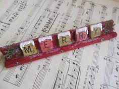Ideas for Scrabble Tiles...Merry Christmas word