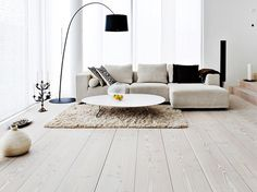 Now it is time for green, red or white solid wood flooring to come back. White Shade Solid Wood Flooring updated: December 2016 by author: Linda Carpenter Wood Laminate Flooring, Minimalist Living Room, Living Room Design Inspiration, Minimalist Living Room Decor, Painting Laminate Wood, Flooring, Solid Wood Flooring, Wooden Floors Living Room, Painting Laminate Floors