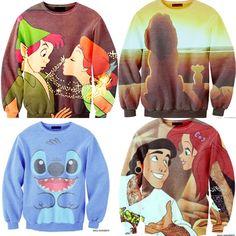 Disney sweaters! Love the little mermaid one!