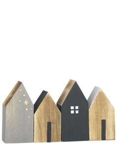 The small deco houses made of wood by Madam Stoltz about Bertine, to 14 euros, zau … - DIY CHRİSTMAS Small Wooden House, Wooden Houses, Boho Deco, Decoration Design, Driftwood Art, Miniature Houses, Wooden Crafts, Wood Toys, Little Houses
