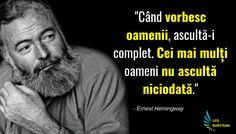 Ernest Hemingway - 13 Citate De Folosit Ca Principii De Viata | Ernest Hemingway, Leo, Memes, Quotes, Quotations, Meme, Lion, Quote, Shut Up Quotes