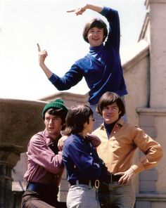 The Monkees....Here they come...Walkin' down the Street.....Get the funniest looks from...Everyone they meet....Hey, Hey With the Monkeys!